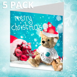 Five pack Christmas cards